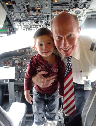 kid with a pilot